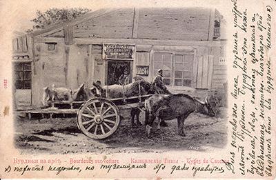 Путеводитель по Кавказу. Бурдюки на арбе.
