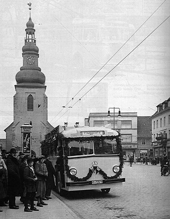 Инстербургский троллейбус на Альтер Маркт