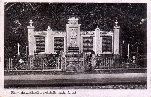 Хайнрихсвальде Славск Heinrichswalde Denkmal 1941