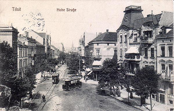 Тильзитский трамвай Tilsit_1915