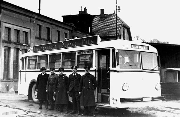 Insterburg trolleybus wagen 1 linia Alter Markt