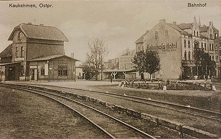 Каукемен Ясное Kaukehmen Kleinbahnhof and Bahnhofshotel