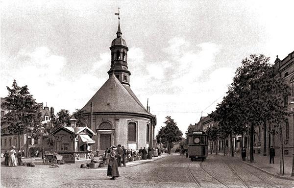 Tilsit-lithkirche_kiosk_goldrand1914_heisskunstanstaltkoeln