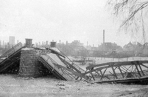 Битва за Велау Wehlau Langebruecke_1945