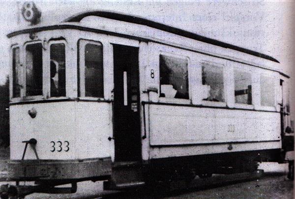 Кенигсбергский трамвай прицепной вагон 333 8-го маршрута