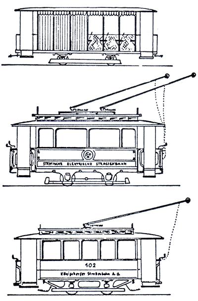 Кенигсбергский трамвай типы вагонов-2