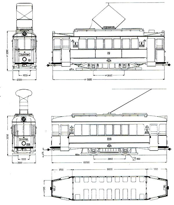 Кенигсбергский трамвай типы вагонов-3