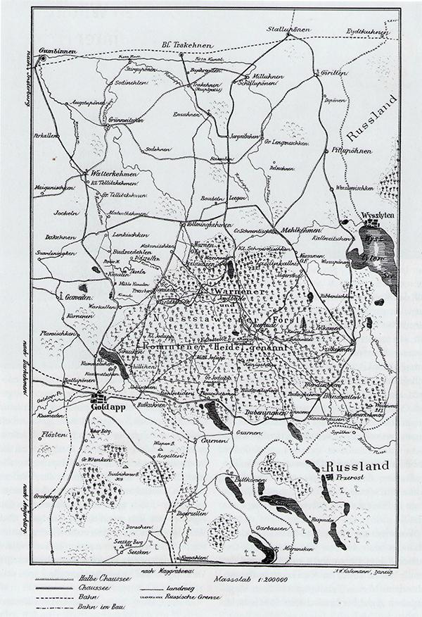 Роминтская пуща карта конец 19 века
