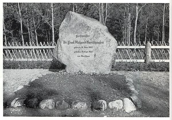 Памятные камни Роминтской пущи Paul Barckhausen