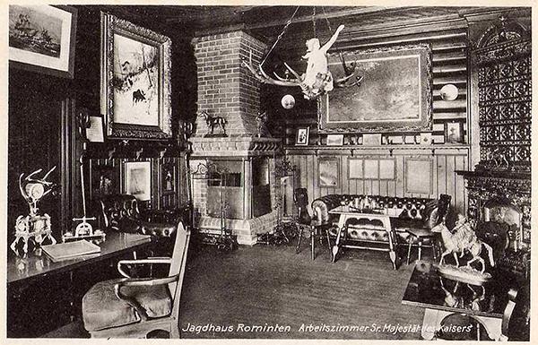 Jagdhaus Rominten Arbeitszimmer Kaiser