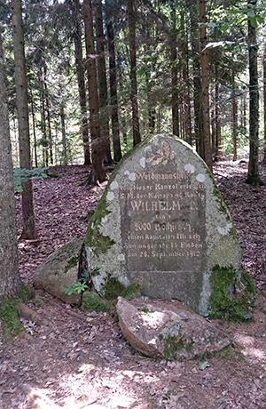 Памятные камни Роминтской пущи Kaiserstein-2000 Glaz Wilhelma Głaz dwutysięczny 2000 jelen Puszcza Romincka