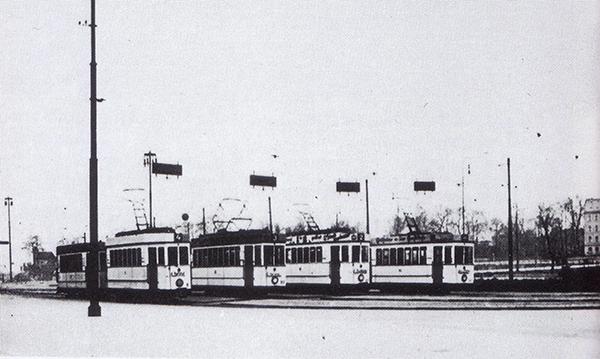 Koenigsberg Hauptbahnhof Strassenbahnen Linien 1 - 4