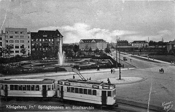Koenigsberg Staatsarchiv mit starssenbahn