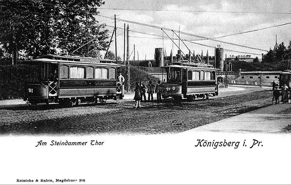 Koenigsberg Strassenbahnen Am SteindammerTor