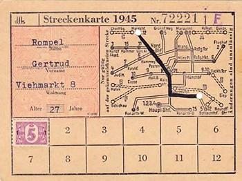 Konigsberg Strassenbahn Fahrkarte