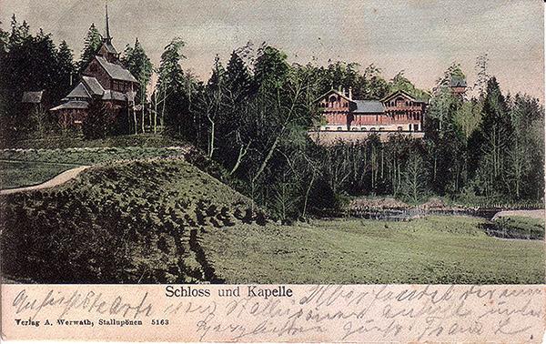 Rominter Heide Schloss und Kapelle_1906