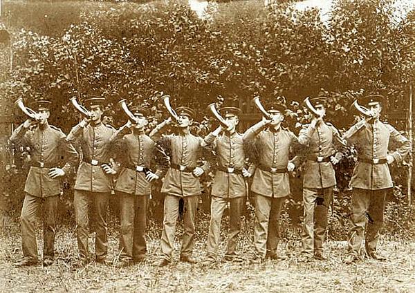 Soldaten Jagdhornblaser Rominten Heide1913