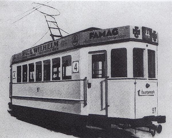 Steinfurt Triebwagen Strassenbahn Numer 27 1924