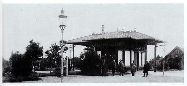 Kaiserpavillon am Bahnhof Gross Rominten 1912