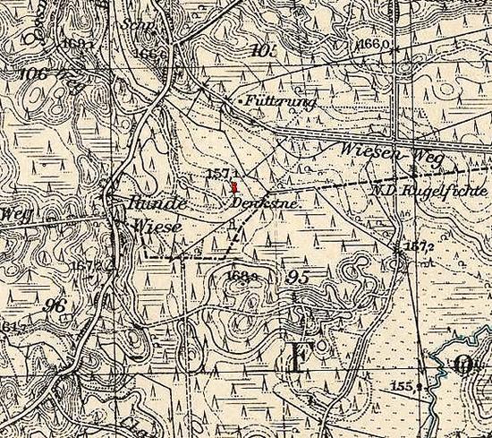 Denkstein 44-ende Glaz Wilhelma Rominta памятный камень Роминтская пуща