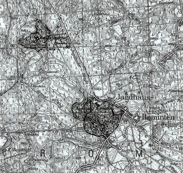 Karte Rominter Heide