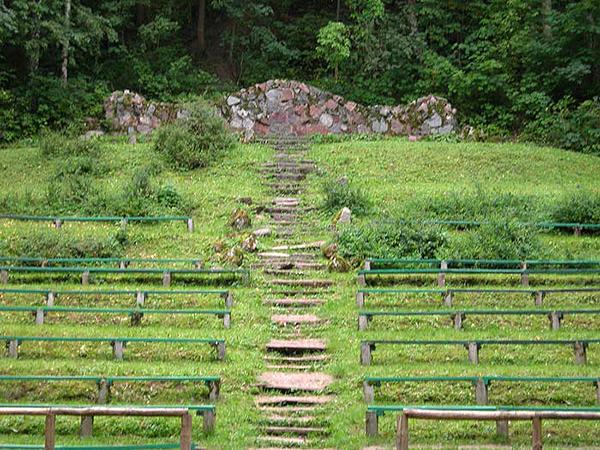Reszel Amfiteatr Тингплацы Восточной Пруссии Решель