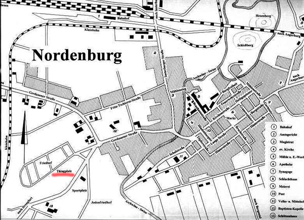 Stadtplan Nordenburg