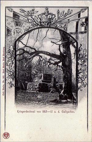 Galtgarben Kriegerdenkmal von 1813-1815 Fischhausenner Kreisbahn Serie Rudolf Stolle Рудольф Штолле