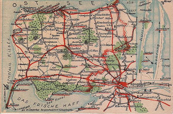 Samlandbahn_1941 Железные дороги Замландского полуострова