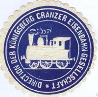 Siegelmarke Koenigsberg Cranzer Eisenbahn