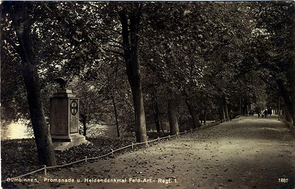 Denkmal Feldartillerie-Regiment Prinz August von Preussen 1930