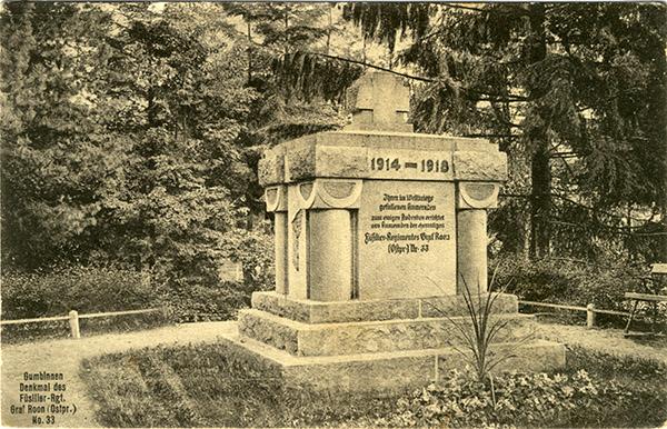 первая мировая война гумбиннен Denkmal Roon Füs.
