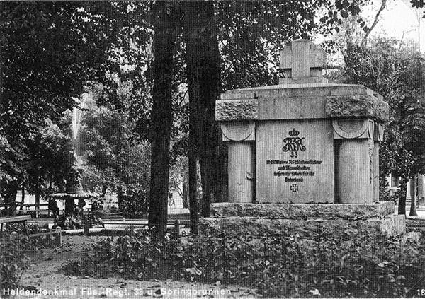 Denkmal Roon Füsiler back side
