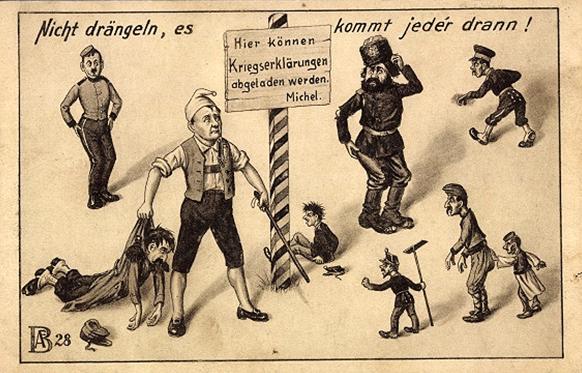 Немецкий Михель Deutscher Michel Propaganda 1914