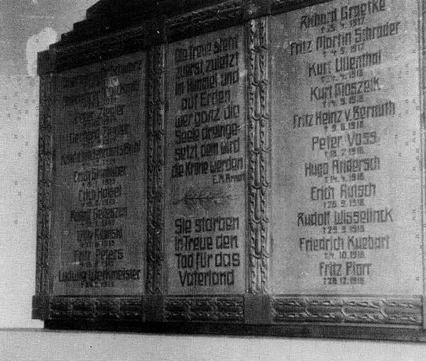 Erentafel 1914-1918