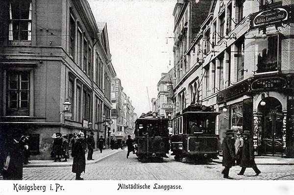 Koenigsberg Altstadtische Langgasse