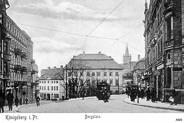 Кенигсбергский трамвай фото Koenigsberg Bergplatz
