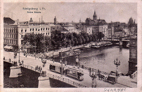 Koenigsberg Gruene Bruecke Strassenbahn 1924
