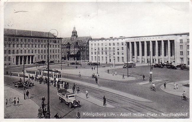 Koenigsberg Nordbahnhof Adolf Hitler Platz 1939