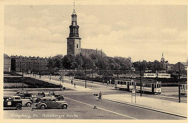 Koenigsberg Straßenbahn Haberberger Kirche