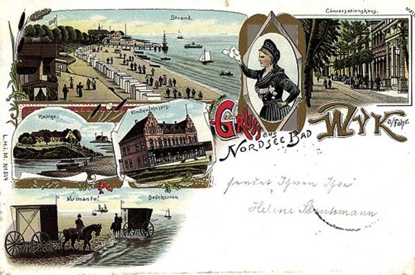 Wyk auf Föhr in Nordfriesland 1899