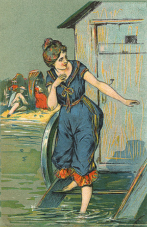woman in bathing-machine