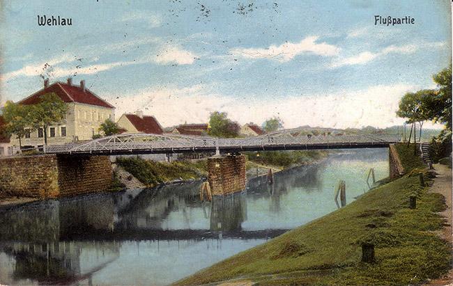 Wehlau Allebrucke 1922 мосты Велау