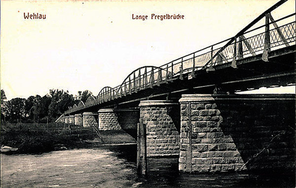 Wehlau Lange Pregelbrücke мосты Велау