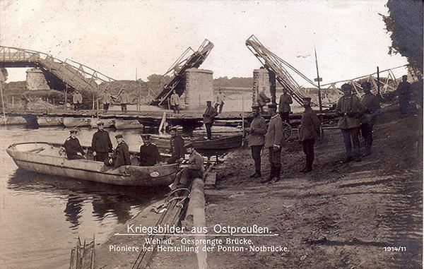 Wehlau Notbrucke 1916 мосты Велау