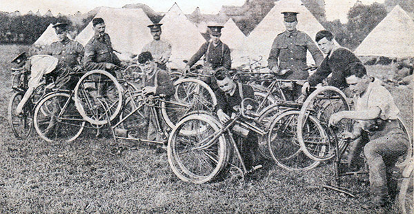 10th Irish Division with folding bicycles