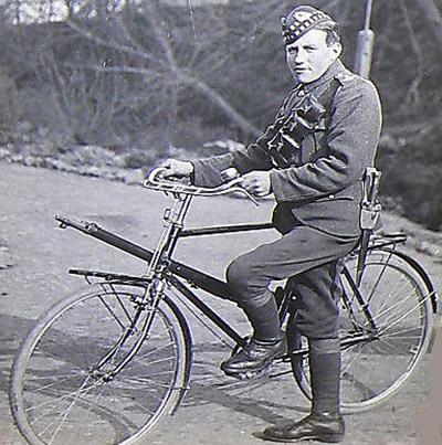 10th Scotish велосипедные подразделения