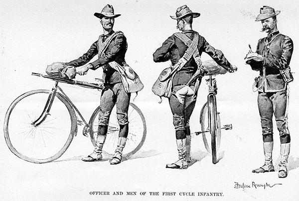 1895_may_harpers_weekly военные велосипедисты