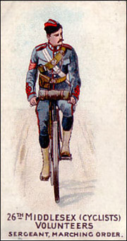 26th Middlesex - cigarette card