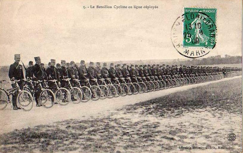 Armee France bataillon-cycliste военные велосипедисты